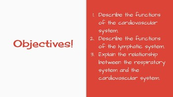 Anatomy: Cardiovascular, Lymphatic, and Respiratory Systems NGSS PPT- Editable!