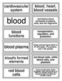 Cardiovascular System: Blood Flash Cards
