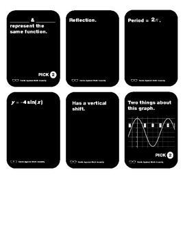 Cards Against Math Insanity - Trig Functions