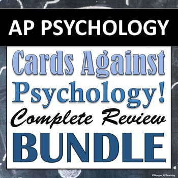 Cards Against Psychology: AP Psychology Review Game BUNDLE - All 9 Units!