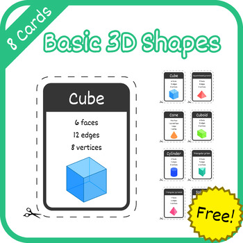 Cards: Basic 3D Geometric Shapes