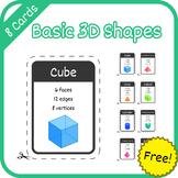 Cards: Basic 3D Geometric Shapes