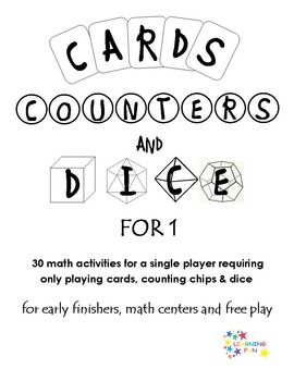 Cards, Counters & Dice for 1 - Early finishers, centers, f