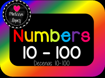 Cards Numbers 10-100 tens