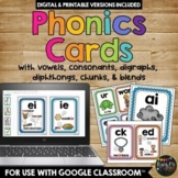 PHONICS Posters and Cards, PHONOGRAMS, Blends, Digraphs, Chunks, Brights