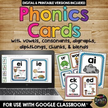 PHONICS Cards & Posters, PHONOGRAMS, Blends, Digraphs, Chu