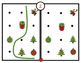 Cards - Reproduce the path - Christmas