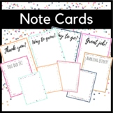 Cards Thank You Note Digital Distance Learning Motivation