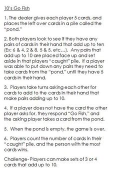 Cards and Dice Math Skill Games