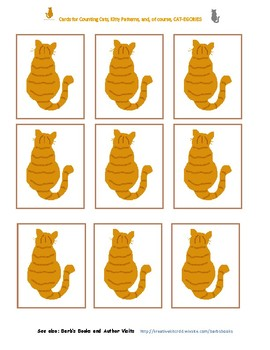 Cards for Counting Cats, Creating Patterns, and, of course, CAT-egories