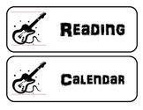 Cards for daily schedule bulletin board