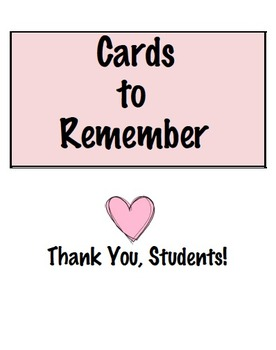 Cards to Remember Binder Cover