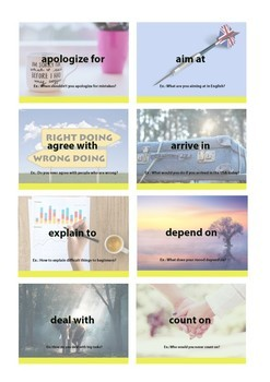 Cards with Prepositions ESL