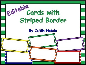 Cards with Striped Border