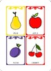 Cards with fruits
