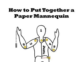 Cardstock Paper Mannequin