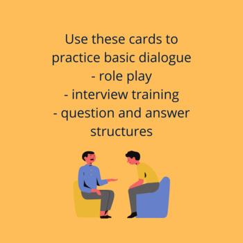 Carduri de discuție / Dialogue cards - FREEBIE, SAMPLE