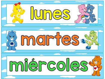 Care Bears - Spanish Calendar Set