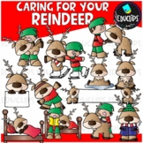 Care For Your Reindeer Clip Art Set {Educlips Clipart}