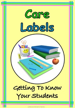 Care Labels Back to School or End of Year Fun, Printable W