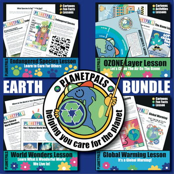 EARTH Science Bundle Fun Facts About World & Environment How to Care & Help