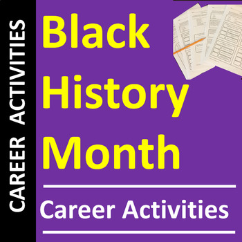 Career Activities for Feb. Black History Month - Printable or Distance Learning