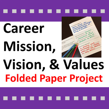 Career Activity for Mission, Vision, & Values Statements F