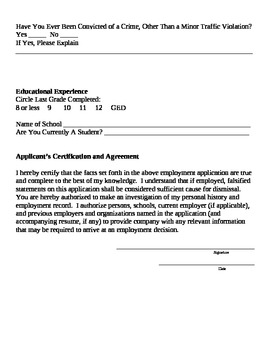 Career Application
