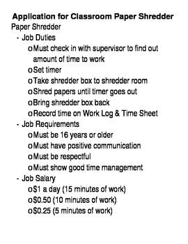 Career Application - Paper Shredder