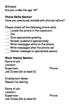 Career Application - Phone Secretary