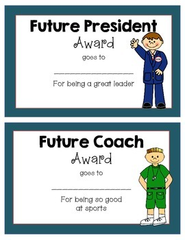 Career Awards- Perfect for End of the Year or Career Week