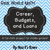 Career Project with Budgets and Loans- Distance Learning- Text Fillable!