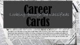 Career Cards-.Applied math problems for early finishers or