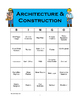 Career Cluster Bingo - Architecture & Construction