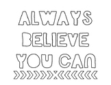 Positive Quote Coloring Sheets