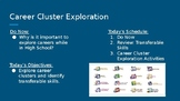 Career Cluster Exploration