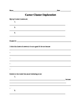 career cluster worksheets resultinfos. Black Bedroom Furniture Sets. Home Design Ideas