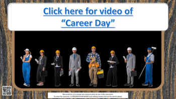 Career Cluster Exploration Lesson video link & 4 research links w Worksheet