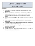Career Cluster Presentation Research/ Career Exploration Handout