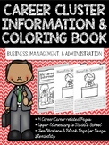 Career Coloring and Information Book: Business, Management