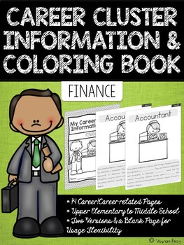 Career Coloring and Information Book: Finance