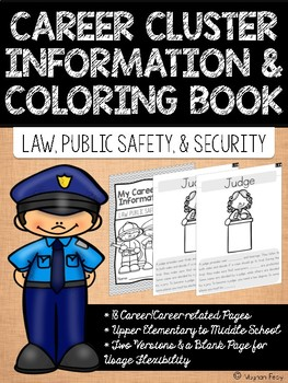 Career Coloring and Information Book: Law, Public Safety, and Security