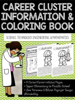 Career Coloring and Information Book: STEM