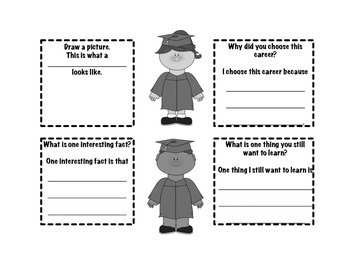 Career, Community Helper & College Research Graphic Organizers