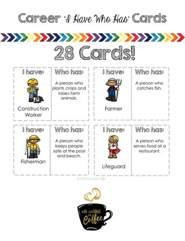 Career/Community Helpers I Have Who Has Cards