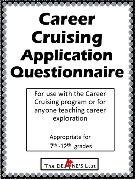 Career Cruising Application Questionnaire