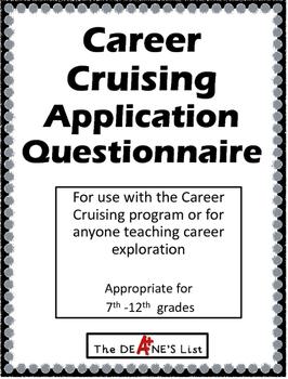 Career Cruising Application Questionnaire