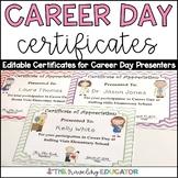 Career Day Awards/Certificates (editable)