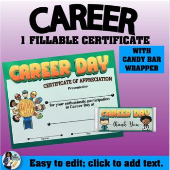 Career Day Certificate