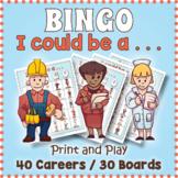Career Exploration Day BINGO & Memory Matching Card Game Activity